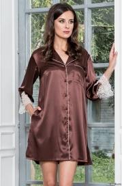 Шелковый халат-рубашка MARILIN (70% шелк)