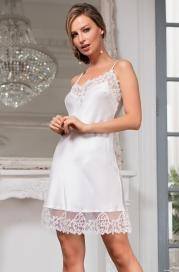 Короткая шелковая сорочка White Swan (70% нат.шелк)