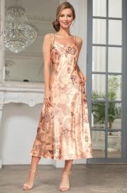 Длинная шелковая ночная сорочка Mia Amore LETUAL (70% нат.шелк)