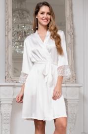 Шелковый халат кимоно White Swan (70% нат.шелк)