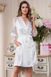 Шелковый халат -кимоно Edita (70% нат.шелк)