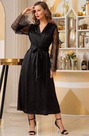 Черный халат Mia Amore Корнелия