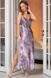 Длинная сорочка с ажурной спинкой Mia Amore Аврора (70% нат.шелк