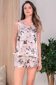 Шелковая пижама с шортиками Mia Amore Флавия (70% нат.шелк)