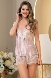 Шелковая пижама с шортиками Mia Amore Милинда (70% нат.шелк)