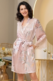 Короткий шелковый халат Mia Amore Милинда (70% нат.шелк)
