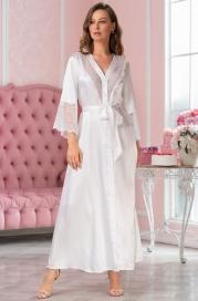 Длинный атласный халат на пуговицах Mia Amore Lidia