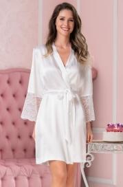 Короткий атласный халат Mia Amore Lidia