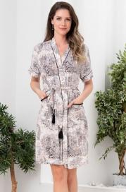 Короткий халат из вискозы Mia Amore Элефант