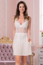 Короткая атласная ночная сорочка Mia Amore Шартрез