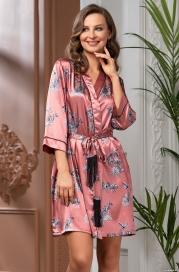 Короткий атласный халат Mia Amore Саванна