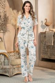 Пижама-двойка из вискозы на пуговицах Mia Amore Nika