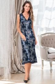 Длинная шелковая ночная сорочка Mia Amore Vanessa (70% нат.шелк)