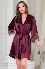 Короткий шелковый халат Mia Amore Sharon (70% нат.шелк)