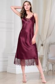 Длинная шелковая ночная сорочка Mia Amore Sharon (70% нат.шелк)